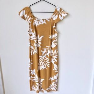 Old Navy Floral Yellow Dress